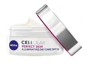 NIVEA_Rozjasnujuci denny krem Cellular Perfect Skin otvoreny